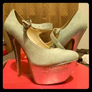 Mint Green Wedge Heels
